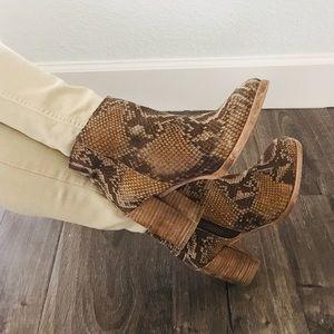 ASOS snakeskin ankle Bootie